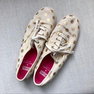 Kate Spade x Keds Gold Polka Dot Sneakers